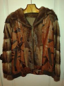 Manteau de fourrure/cuir (homme) – Fur/leather coat (man)