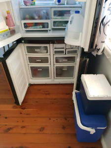Fridge and dining table on sale