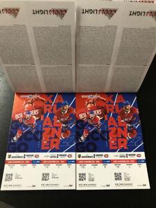 Billet de hockey tickets Montreal Canadien's
