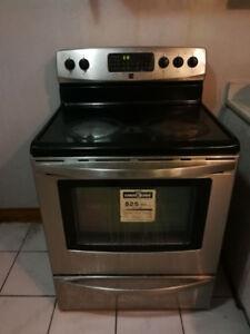 black working stove Glass Burners (Electric)