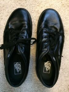 Van's black leather skater shoes – Brand New