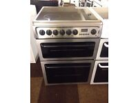 HOTPOINT STAINLESS STEEL 60cm ELECTRIC COOKER, 4 MONTHS WARRANTY, FREE LOCAL DELIVEY