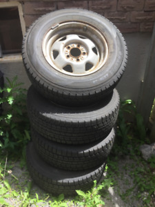 4 Brand New Dunlop Winter Tires on Rims