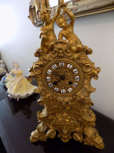 LOUIS 14TH GOLD GILDED CLOCK