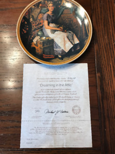 Dreaming in the Attic, Norman Rockwell Plate