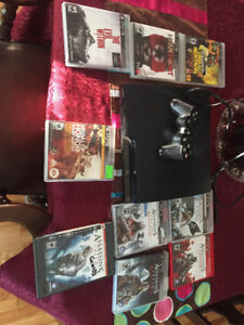 PlayStation 3, games included.