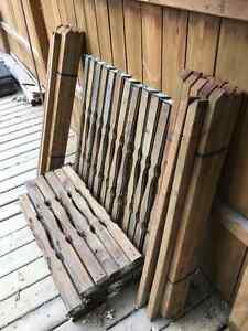2x2 Treated Wood Deck Railing Spindle (40) & Baluster (34) $50