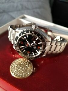 Authentic Omega Planet Ocean 600M Omega Co-axial GMT