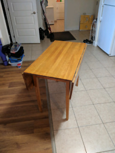 Hand made pine table with folding leaves