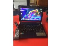 "Fast ACER ASPIRE ONE D250 mini 10.1"" Win 7 webcam wifi long battery good cond no offers"