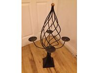 Steel antique medieval style candle holder