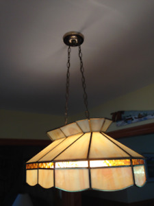 Large Stained Glass Light Fixture - Perfect for a Pool Table