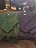 Small and large. Men's under armour hoodies