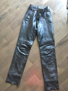Pantalon cuir BRISTOL pour femme grandeur 10ans