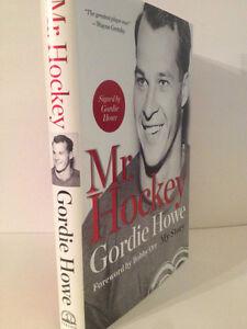 Signed Gordie Howe book Mr. Hockey - Detroit Red Wings