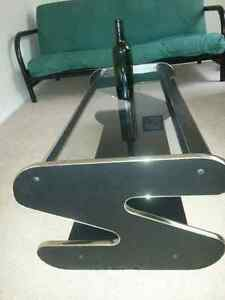 Black and gold coffee table, 118cm length