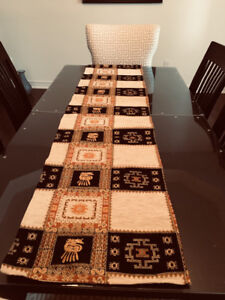 Pillow covers and table runner