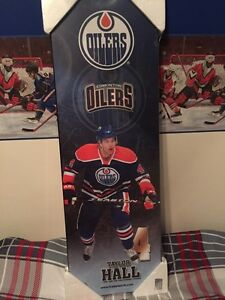Taylor Hall Oilers hockey sign