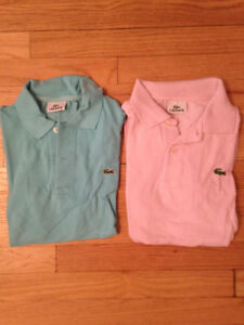 Lacoste polo shirts - pink and blue