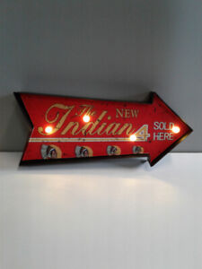 INDIAN MOTORCYCLE LED LIGHT UP SIGN
