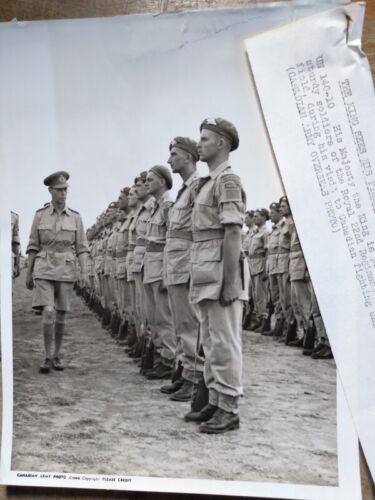WWII King George VI Inspects Troops of Royal 22nd Reg Italy Press Release Photo