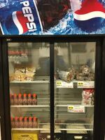 2-Door sliding glass door Pepsi fridge - $600