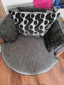 Large DFS Cuddle Chair and Storage Footstool
