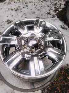 "Set of 4 OEM Ford F150 18"" Chrome Rims 09-14 Kawartha Lakes Peterborough Area image 2"