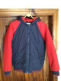 Boys Fleece Lined Hooded Coat Jacket Age 12 -13 yrs - Like New