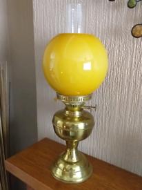 VINTAGE BRASS DUPLEX OIL LAMP