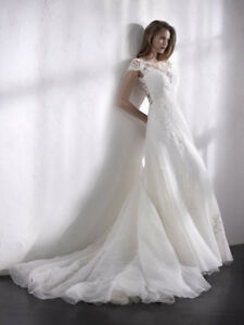 New St Patrick Lilien Off White Crystal Organza Wedding Dress 10