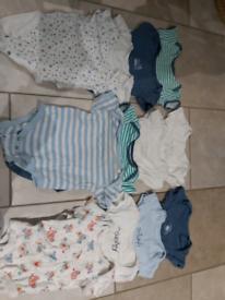 6-9 months long and short sleeve vest bundle