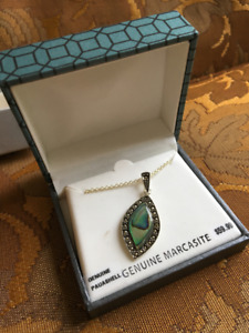 Brand New Genuine Marcasite Necklace