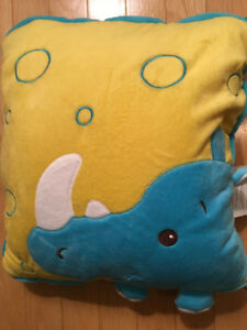 New with tags, Luxuriously Soft, Rhinoceros Blanket Pillow