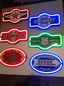 RETRO NEON SODA AND GASOLINE SIGNS