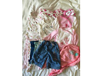 0-3 month baby girl bundle of clothes