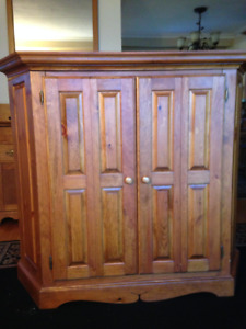 Solid Pine TV or Curio Cabinet