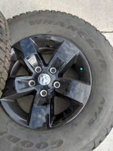 Set of 4 Goodyear P265/70/R17 Mounted Rims and tires Dodge 1500