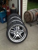"20"" MERCEDES RIMS TOYO TIRES"