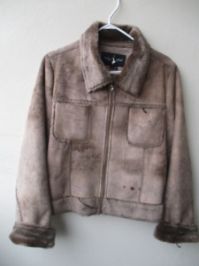 Baby Phat Woman  Suede Jacket Size Large