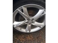"""19"""" alloys to fit Audi Tyres are very good A5 style"""