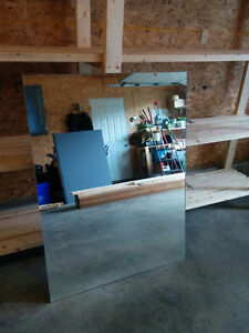 SOLD- 5 Big Mirrors for sale with mounting brackets