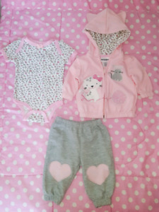 Winter outfits, baby girl clothing jackets and pants