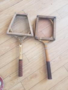 2 older tennis rackets
