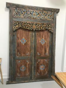 Antique Door Rustic Headboard