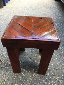 End tables, coffee tables etc. Built from recycled pallets
