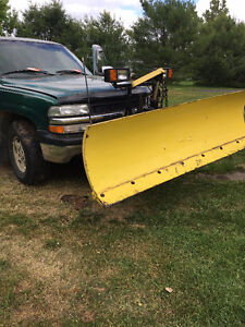 Fisher plow with truck