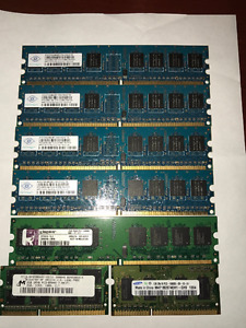 ~Excellent condition~ Laptop desktop memory sticks DDR2 DDR3