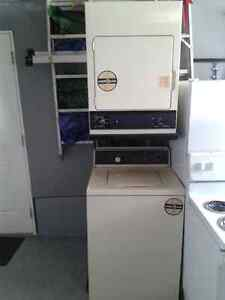 GE stackable washer AND dryer