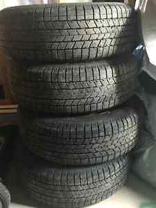 """Set of 4 15"""" Studded Winter Tires on Rims"""